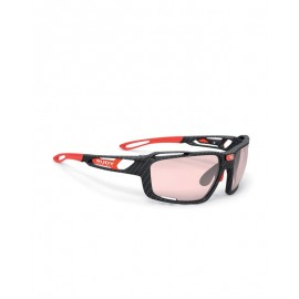 Okulary Rudy Project Sintryx Fire Red Gloss - Smoke Czarny Transparent