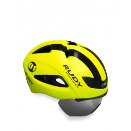 KASK RUDY PROJECT BOOST 01 YELLOW FLUO BLACK MATTE WHITE SZYBA R.L